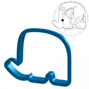 Elephant Cookie Cutter I