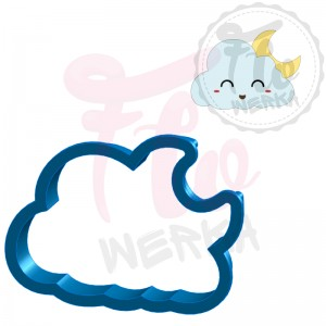 Cloud with moon Cookie Cutter