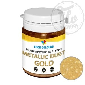 Metallic dust Gold - Barwnik w proszku 20g