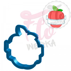 Apple with banner Cookie Cutter